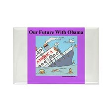 """""""Obama Will Sink America"""" Rectangle Magnet"""