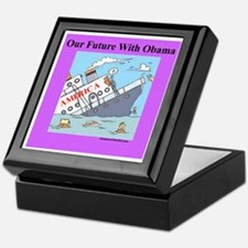 """Obama Will Sink America"" Keepsake Box"