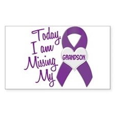 Missing My Grandson 1 PURPLE Rectangle Decal
