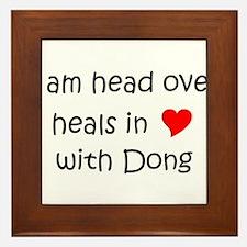 Funny I love ding dongs Framed Tile