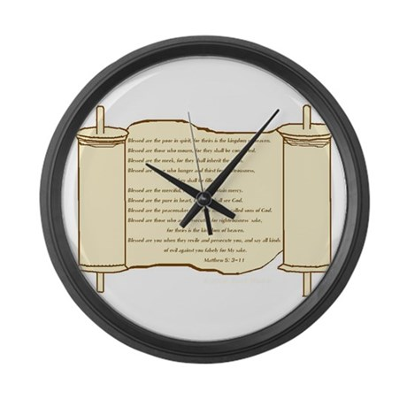 Matthew 5, Beatitudes Large Wall Clock