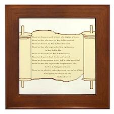 Matthew 5, Beatitudes Framed Tile