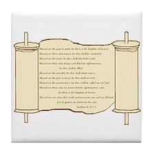 Matthew 5, Beatitudes Tile Coaster