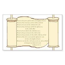 Matthew 5, Beatitudes Rectangle Sticker 50 pk)