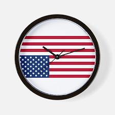 Inverted American Flag (Distress Signal) Wall Cloc
