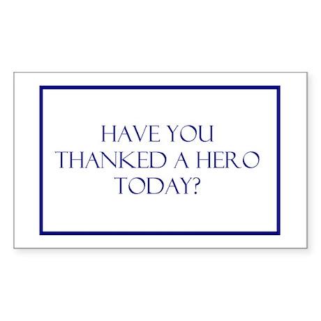 Hero Rectangle Sticker