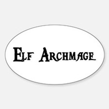 Elf Archmage Oval Decal