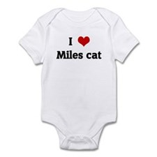 I Love Miles cat Onesie