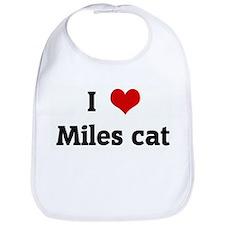I Love Miles cat Bib