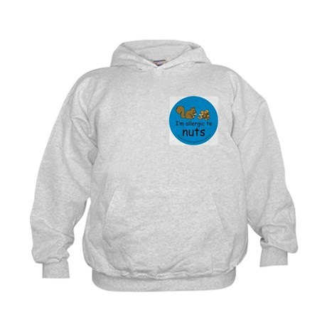 Allergic to nuts squirrel blue-Hoodie Back Design