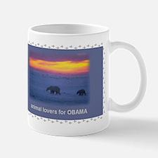 animal lovers for OBAMA Mug