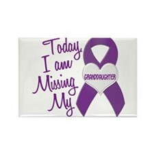 Missing My Granddaughter 1 PURPLE Rectangle Magnet
