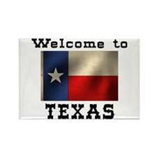 Welcome to Texas Rectangle Magnet