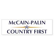 McCain-Palin (Country First) Bumper Bumper Sticker