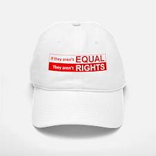 equal rights rectangle v 1 Baseball Baseball Baseball Cap