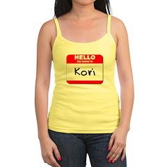 Hello my name is Kori Jr.Spaghetti Strap
