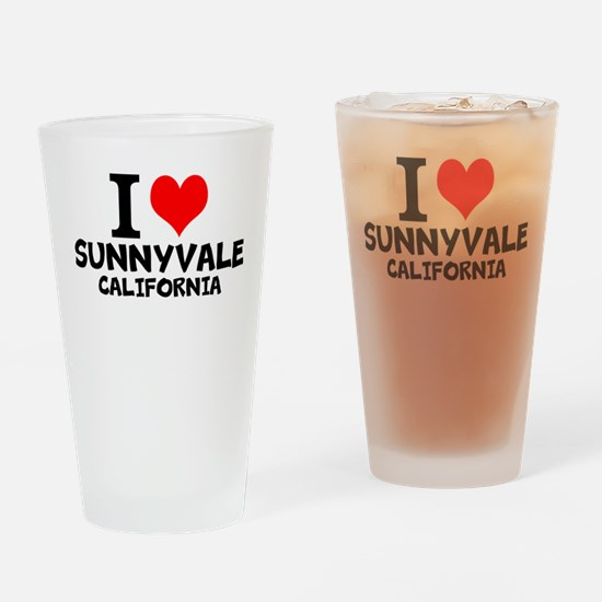 I Love Sunnyvale, California Drinking Glass