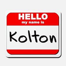 Hello my name is Kolton Mousepad
