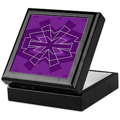 Asterisk (purple) Keepsake Box