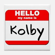Hello my name is Kolby Tile Coaster