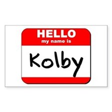 Hello my name is Kolby Rectangle Decal