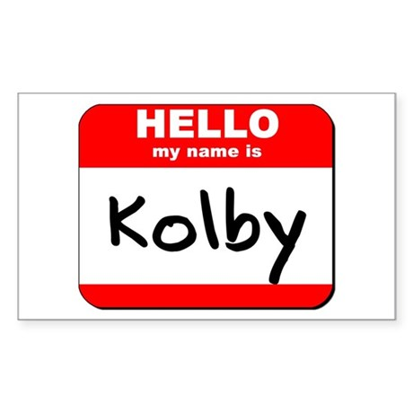 Hello my name is Kolby Rectangle Sticker