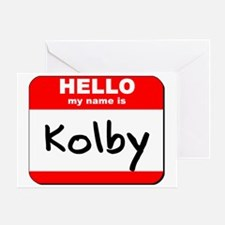 Hello my name is Kolby Greeting Card