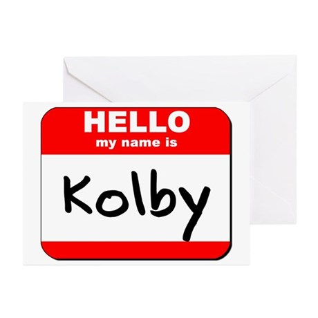 Hello my name is Kolby Greeting Cards (Pk of 10)