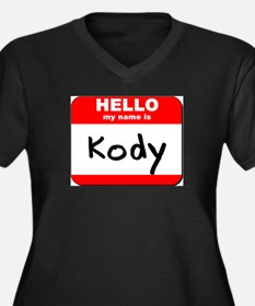 Hello my name is Kody Women's Plus Size V-Neck Dar