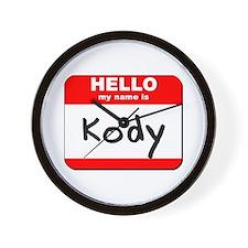 Hello my name is Kody Wall Clock