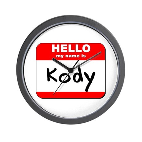 Hello my name is Kody Wall Clock