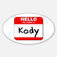 Hello my name is Kody Oval Decal