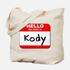 Hello my name is Kody Tote Bag