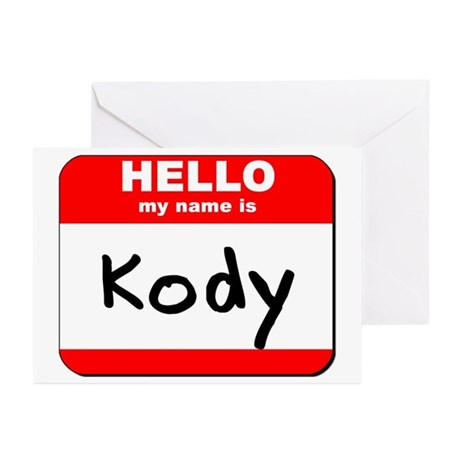 Hello my name is Kody Greeting Cards (Pk of 20)