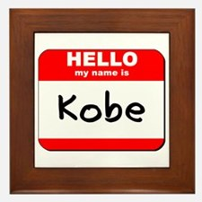 Hello my name is Kobe Framed Tile