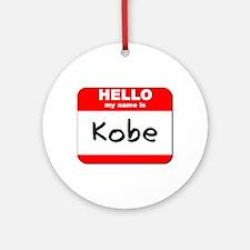 Hello my name is Kobe Ornament (Round)