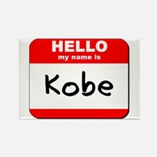 Hello my name is Kobe Rectangle Magnet