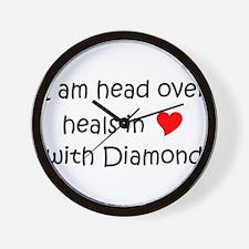 Cute Diamond head Wall Clock