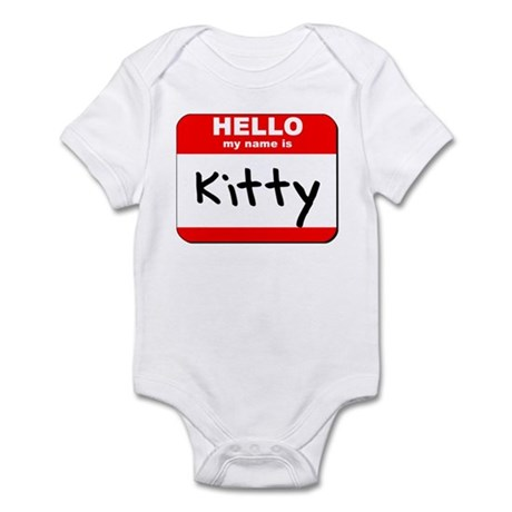 Hello my name is Kitty Infant Bodysuit