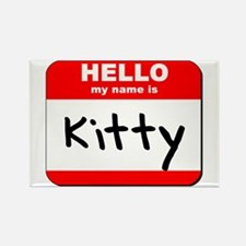 Hello my name is Kitty Rectangle Magnet