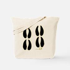 Elk Tracks Design Tote Bag