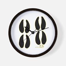 Elk Tracks Design Wall Clock