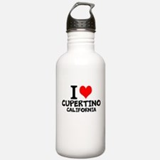 I Love Cupertino, California Water Bottle