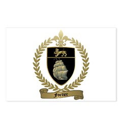FORTIER Family Crest Postcards (Package of 8)