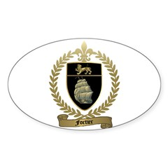 FORTIER Family Crest Oval Decal