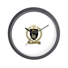 FORTIER Family Crest Wall Clock
