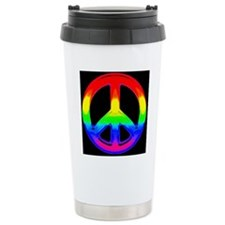RAINBOW PRIDE TRIANGLE Travel Coffee Mug