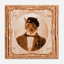 Cat RUPERT Tile Coaster
