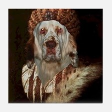 Clumber Spaniel TITIAN Tile Coaster