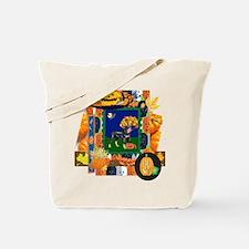 Scrapbook Rottweiler Halloween Tote Bag
